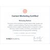 "Сертификат специалиста Hubspot ""Content Marketing"" 2020"