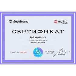 """Сертификат """"SMM. Стратегия"""""""